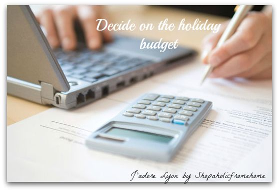 Decide On Holidays Budget