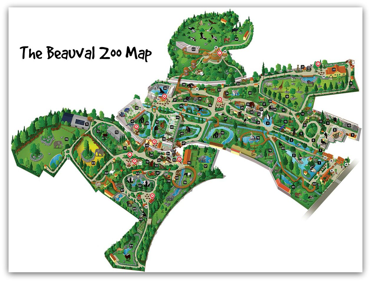 Map Of Zoos In France.Why The Beauval Zoo Is The Best