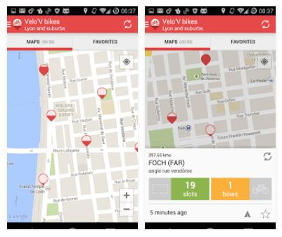 Lyon VeloV Mobile App