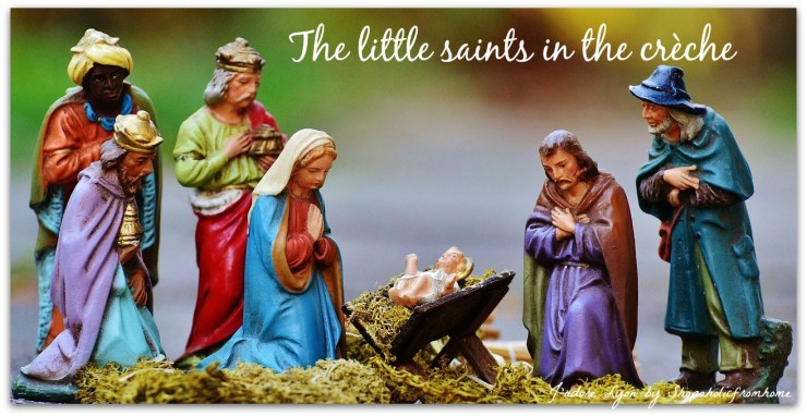 The little saints at the crib