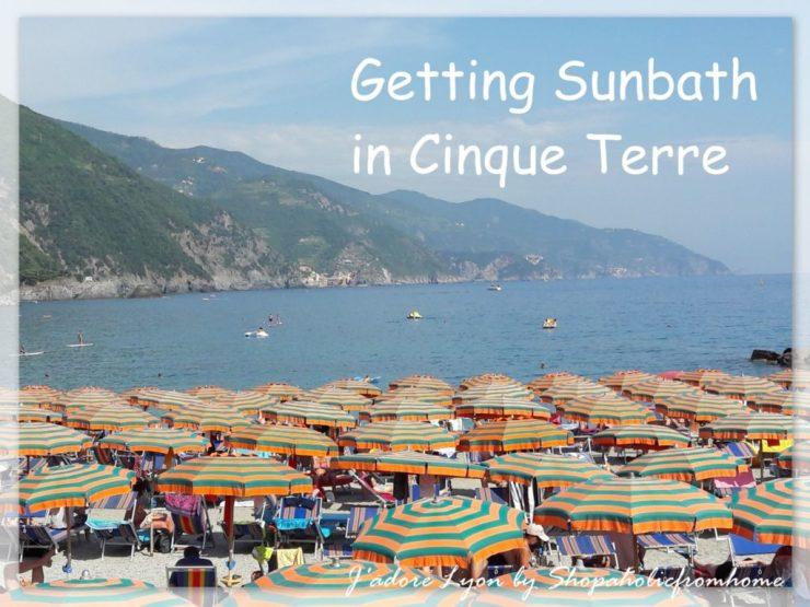 Getting Sunbath in Cinque Terre