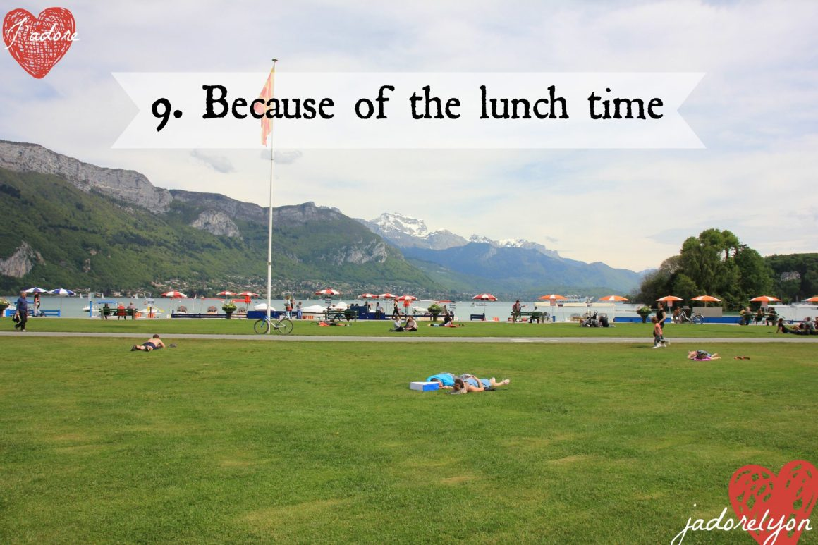 Because of the picnic lunch visit Annecy