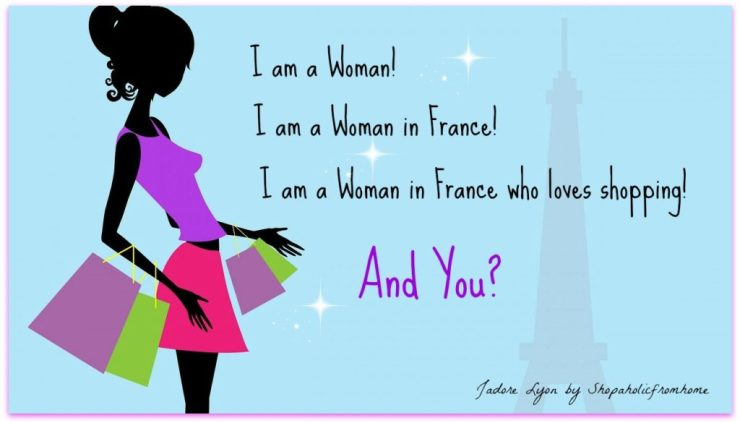 Woman in France who loves shopping