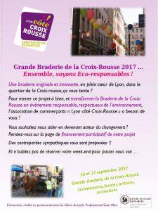 Eco – Responsable la Braderie de a Croix Rousse.