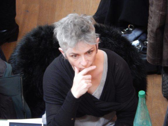 The author at Quais du Polar at the Palais de Commerce in Lyon