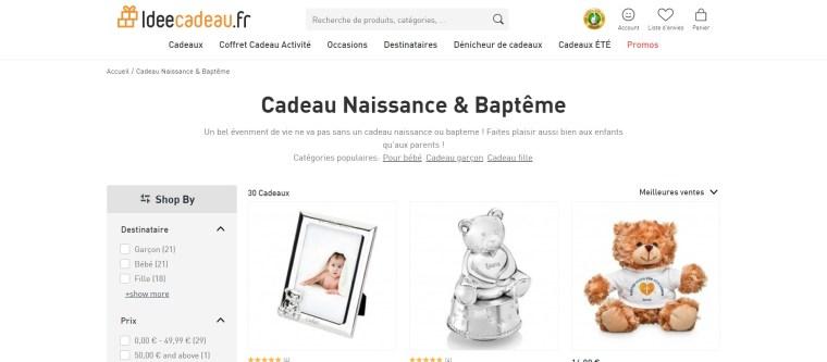 Cadeau Naissance & Baptême - Large sélection sur IdéeCadeau.fr_ - www.ideecadeau.fr