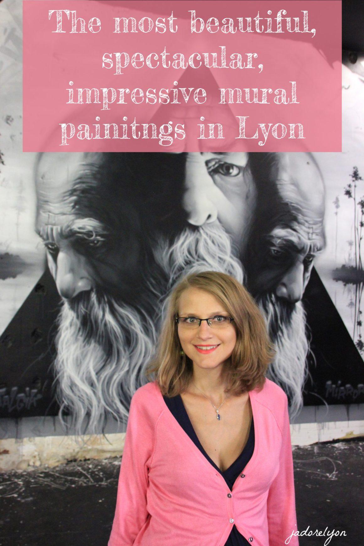 beautiful, spectacular, impressive mural painitngs in Lyon