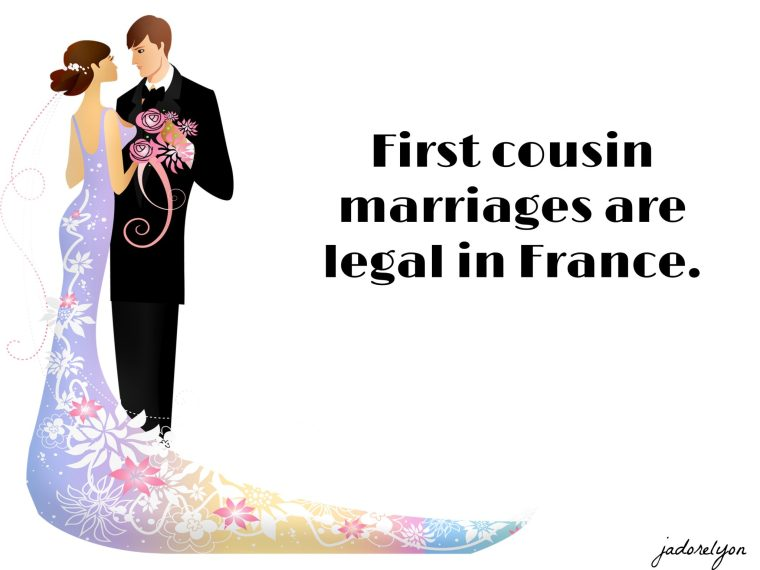 First cousin marriages are legal in France.