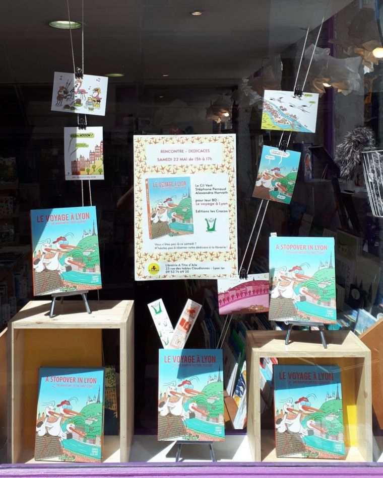It is one of the most popular books for kids about Lyon in Lyon bookstore, museums etc