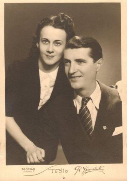 Милош Гагић са супругом Миленом Лелом Чутурило