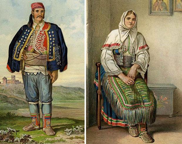 Срби из Бенковца почетком 20. века у националној ношњи