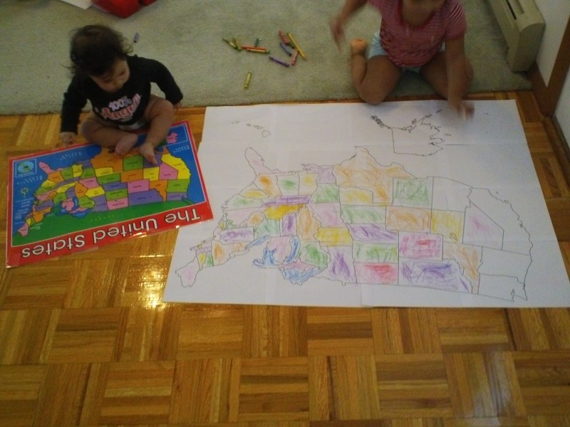 Toddler U S A Map Activities     Jady A  All Done   map