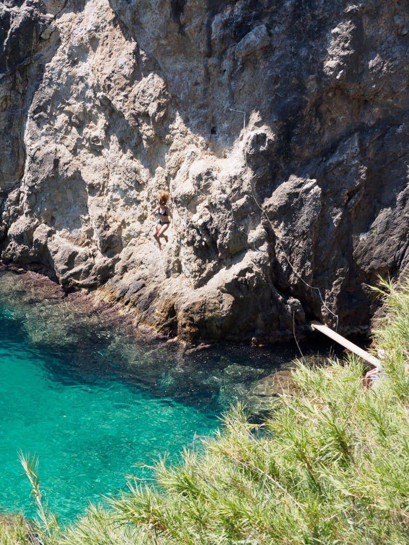 La Grotta widziana z góry