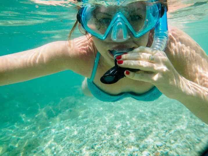 Snorkelling na Korfu