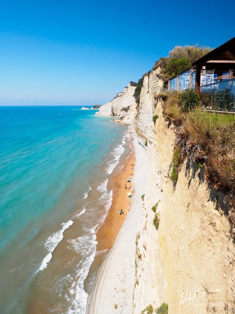 Logas Beach - widok z tarasu restauracji