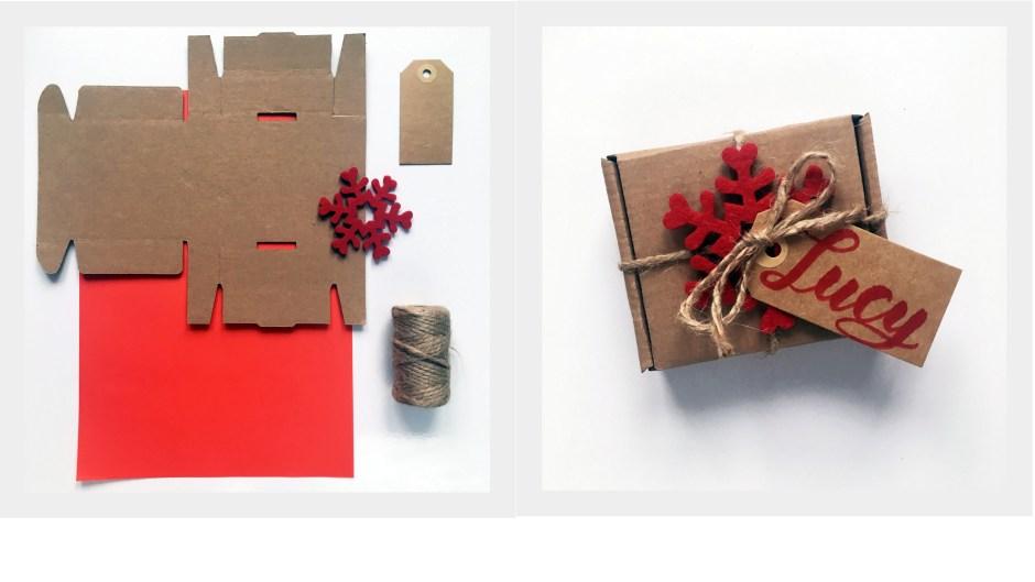 9 sposób zapakowania prezentu w szare pudełko by Jadźka Rysuje