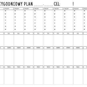 12-tygodniowy plan – szablon do wydruku