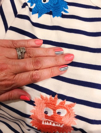 stripes mani jcrew max the monster
