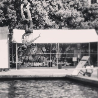 Side Flip off the Diving Board