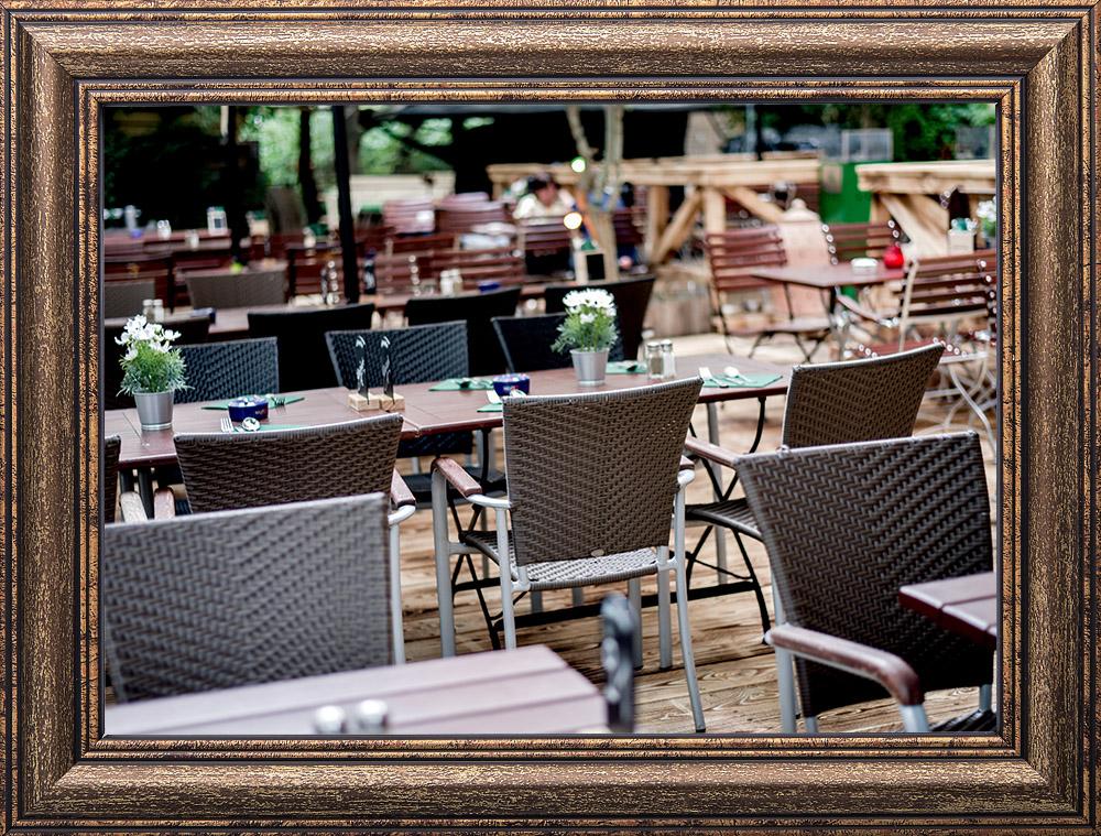 Biergarten Im Gewitter Und Grad Lustig Lechgarten Der