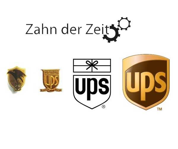 Logo Entwicklung von UPS