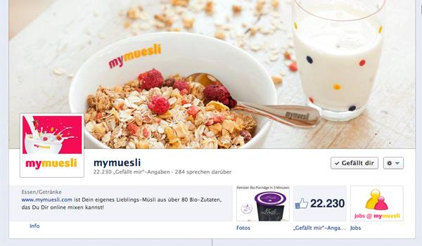 mymuesli.com Facebook Fanpage