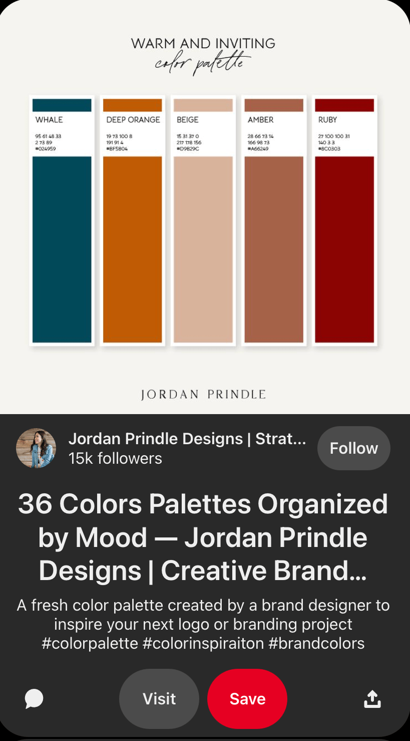 Warm and inviting color palette