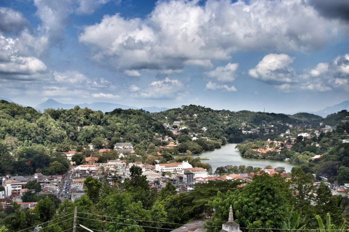 Panorama Blick auf Kandy