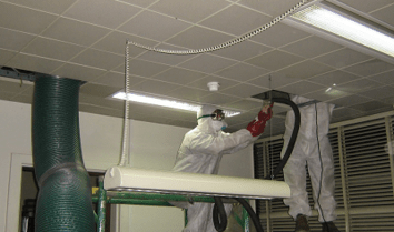 Marine Air Duct Cleaning workers