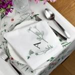 Monogram Napkins For A Wedding Feast Jagababa