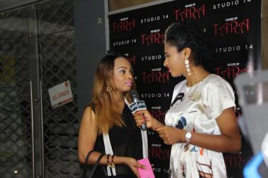 Toke Makinwa being interviewed by Spice tv