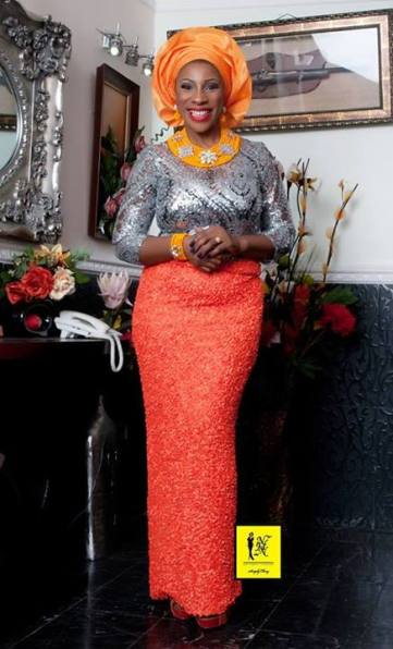 Orange and Silver Aso-ebi Style by NHN Couture- Makeup and Gele by Jagabeauty