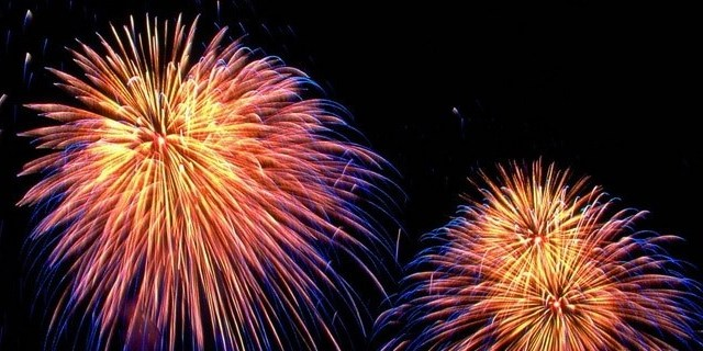 Feuerwerk, ein gutes neues Jahr - Bumm?