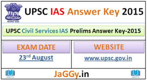 UPSC Civil Services Prelims Answer Key 2015
