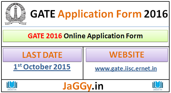 GATE 2016 Application Form, Eligibility & Exam Date at www.gate ...