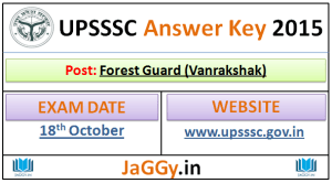 UPSSSC Forest Guard Answer Key 2015
