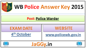 West Bengal Police Warder Answer Key 2015