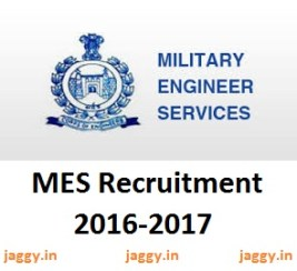 Military Engineer Services Recruitment 2016