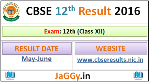 CBSE Board 12th Result 2016