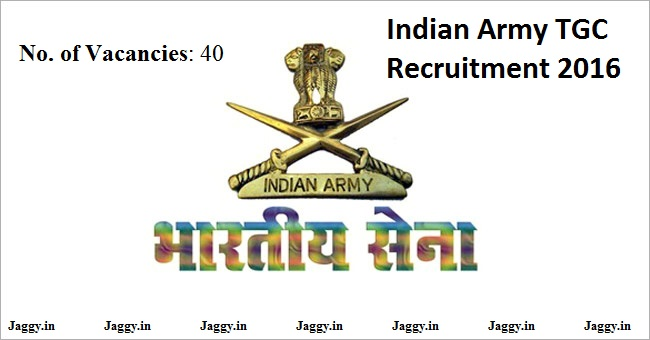 Indian Army TGC Recruitment 2016