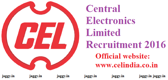 Central Electronics Limited Recruitment 2016