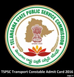TSPSC Transport Constable Admit Card 2016