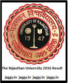 The Rajasthan University 2016 Results
