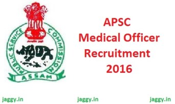 APSC Medical Officer Recruitment 2016