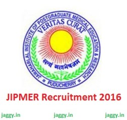 JIPMER Recruitment 2016