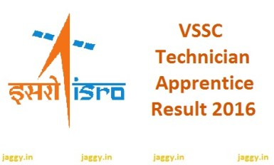 VSSC Technician Apprentice Result 2016