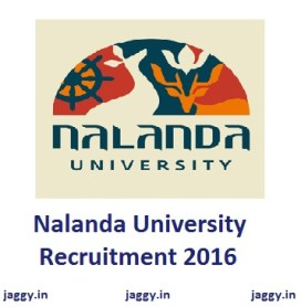 Nalanda University Recruitment 2016