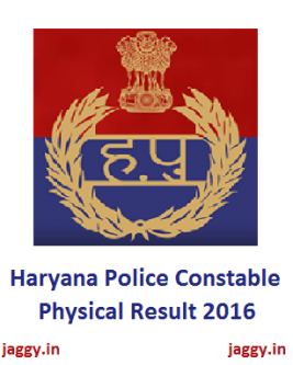 Haryana Police Constable Physical Result 2016
