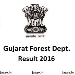 Gujarat Forest Guard Result 2016