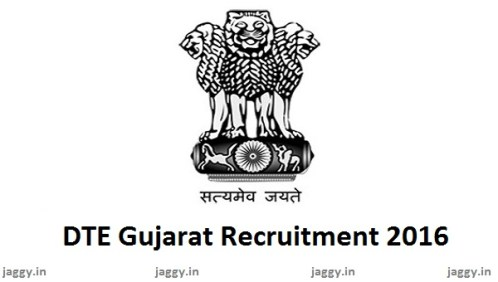 DTE Gujarat Recruitment 2016